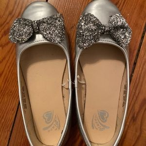 Silver, sparkly girls shoes